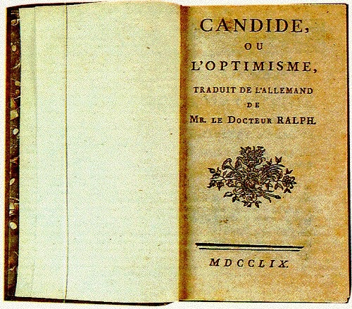Optimism in the book candide by voltaire