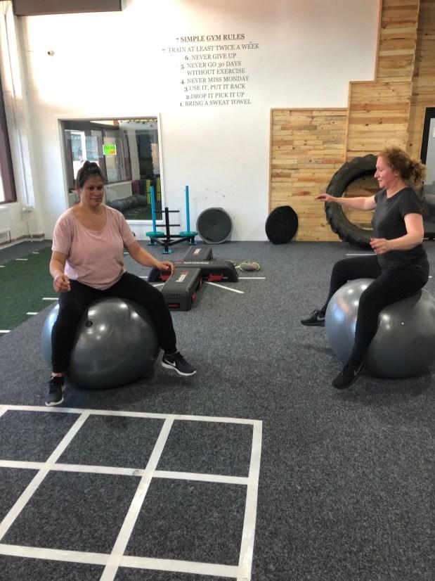 Jill & Liane Stability Ball Balance