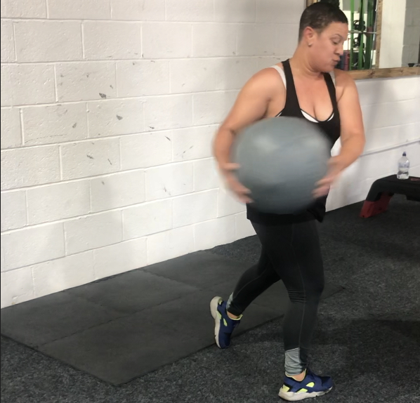 Torso Wall Ball Slams