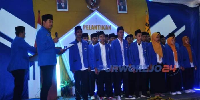 Ketua Pengurus Besar (PB) PMII Muhamad Abdullah Sukri melantik Pengurus Cabang PMII Kabupaten Purworejo masa hidmah 2021-2022.