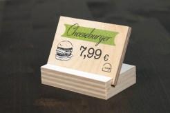 esempio di segnaprezzi per un fast food non troppo fast