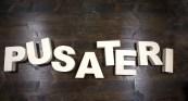 Alfabeto di legno scritta PUSATERI