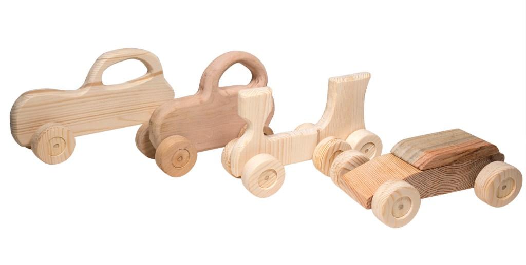Giocattoli di legno - macchina di legno
