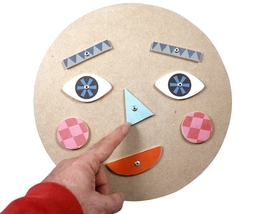 giocattolo in legno Signor Centofacce