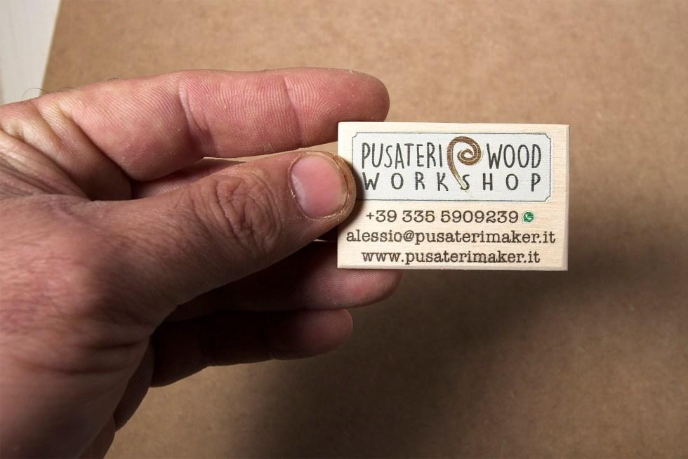 Biglietti da visita di legno Pusateri Maker