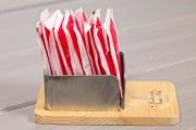 Porta bustine da zucchero legno-metallo
