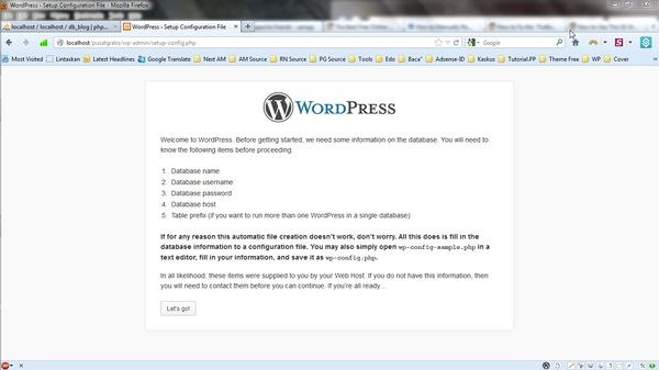 Tips Install Blog WordPress Secara Offline