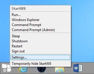 StartW8: Aplikasi Start Menu Gratis Untuk Windows 8