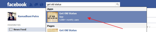 Cara Mudah Melihat Status Lama di Facebook Menggunakan Get Old Status