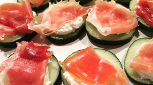 Cucumber Prosciutto Appetizer