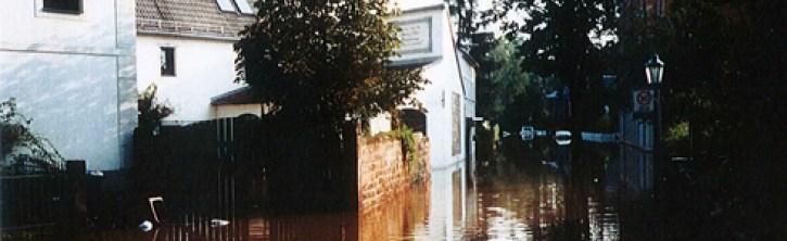 Foto: Putjatinhaus während der Flut