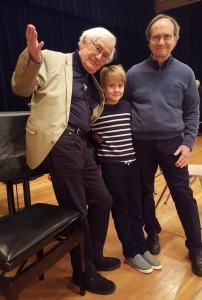 Heinrich Klug mit Anton und André Carus