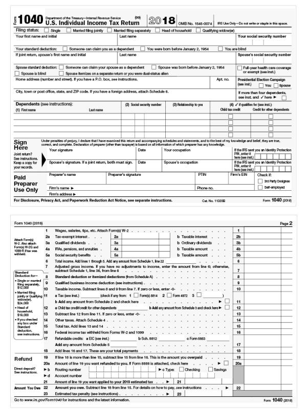 Form 1040 gets an overhaul under tax reform – Putnam ...