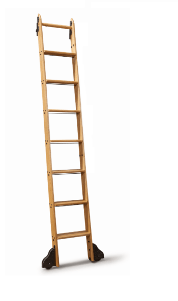 Red Oak Ladder w Black Hardware
