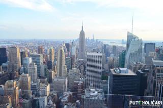 Rockefeller Center - pogled na Empire State Building