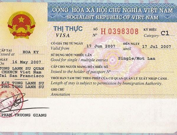 Info – Postupak dobivanje vize za Vijetnam