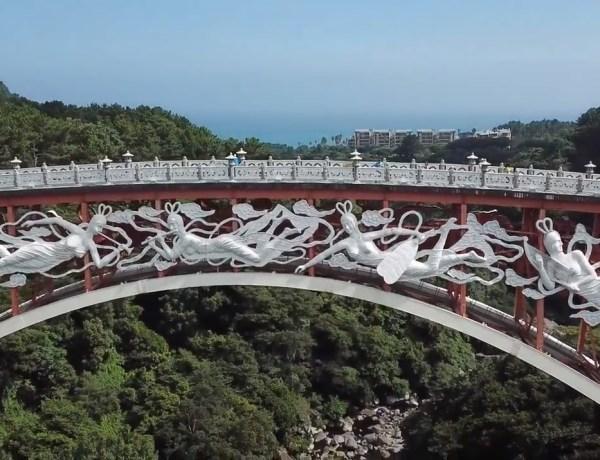 Seonim Bridge & Cheonjeyeon waterfall - DjiMavicPro