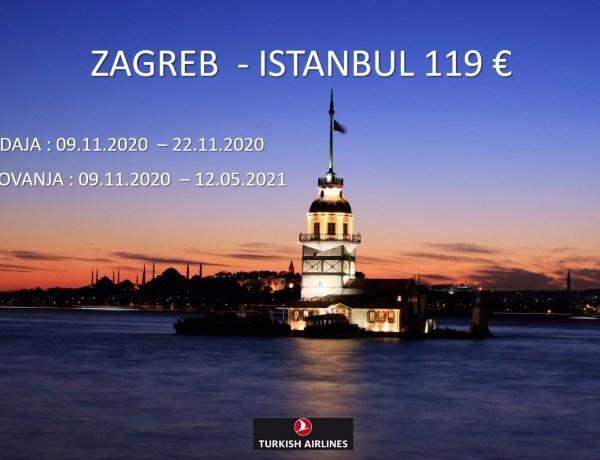 Turkish Airlines – Akcija za Istanbul iz Zagreba