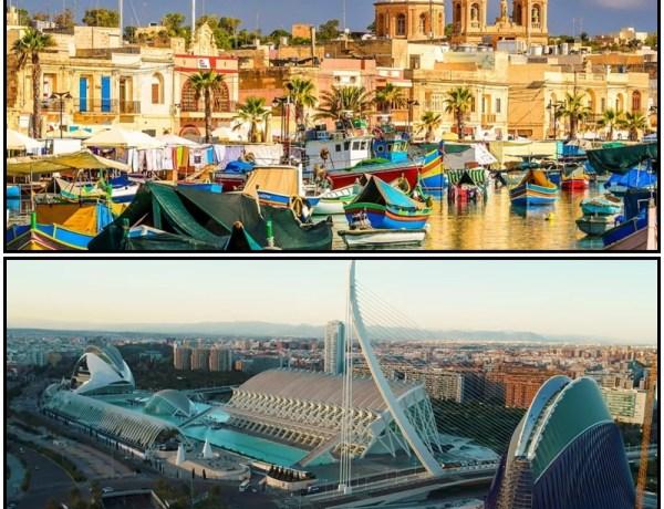 Valencija ili Malta? povratne aviokarte već od 29€ – 7mj.