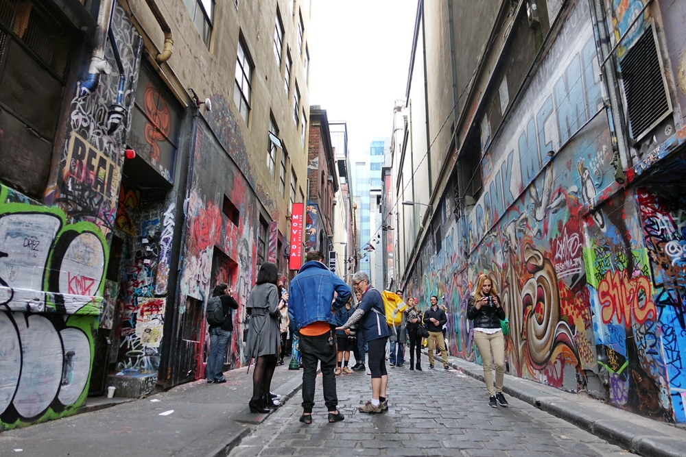 Mengintip Melbourne Street Art di Hosier Lane