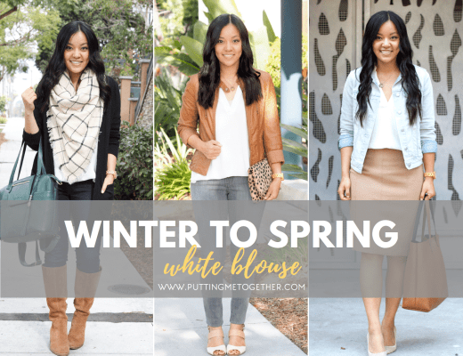 Winter to Spring: White Blouse Outfits