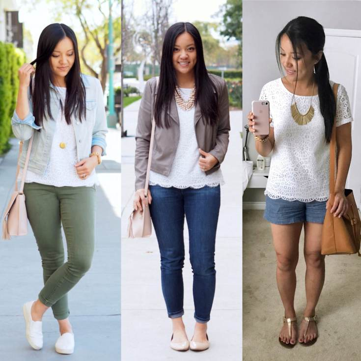 Lace Tee Outfits