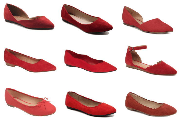 Affordable Red Flats