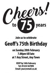 75th birthday party invitations