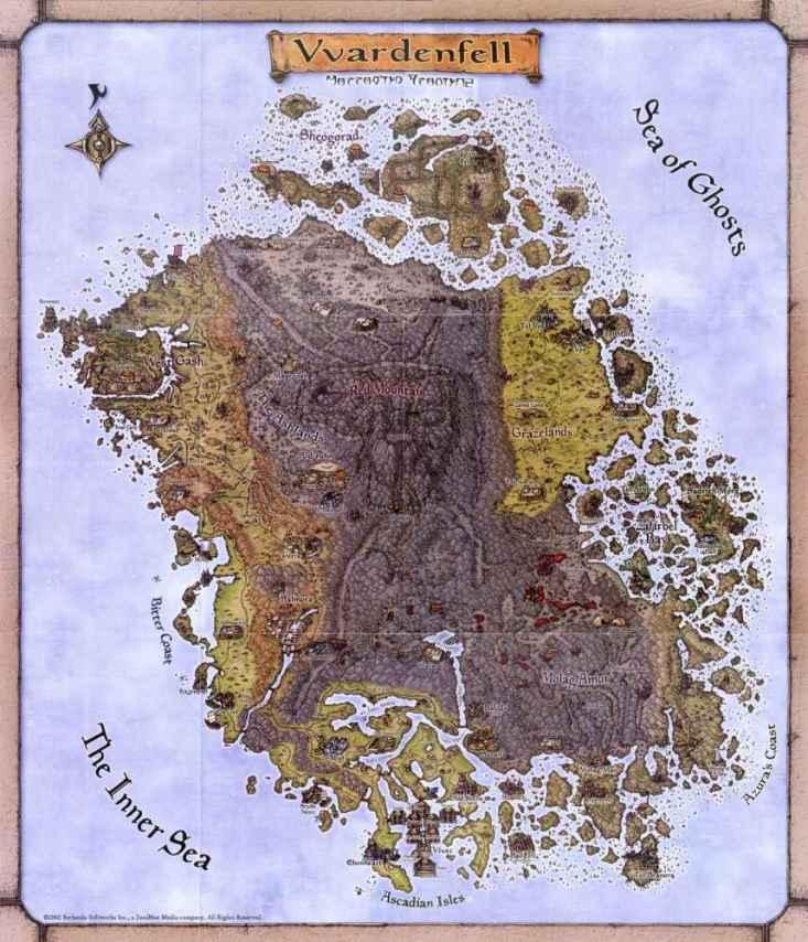 Mapa do Jogo Elder Scroll
