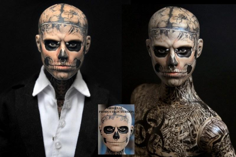 zombie_boy_rick_genest_custom_doll_repaint_by_noeling-d5ijehm