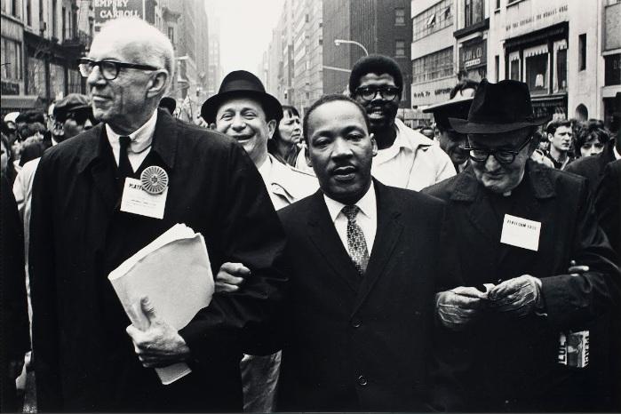 Dr. Benjamin Spock, Dr. King, and Monsignor Rice … (April 15, 1967, printed 1989) Benedict J. Fernandez
