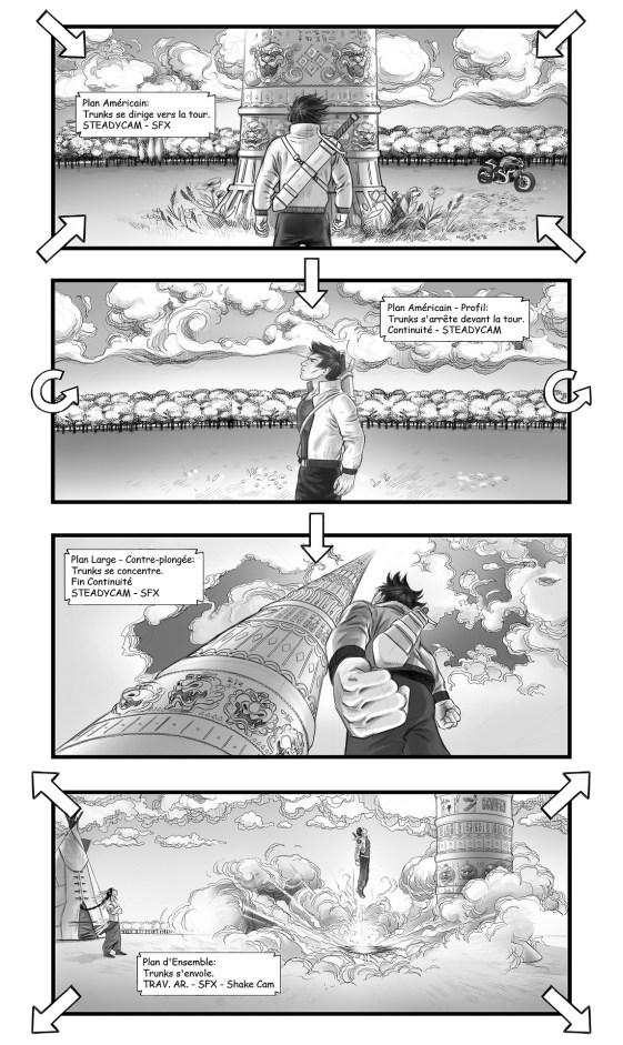 Dragon Ball Z - The Fall of Men storyboard