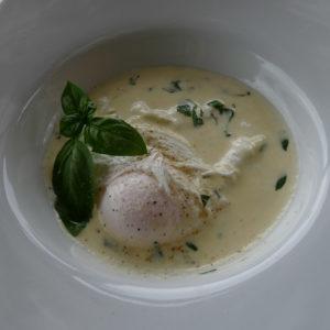 Gepocheerd ei / Gebakken - gepocheerde eieren met mosterd saus