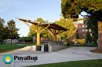 Concert Stage in Pioneer Park Puyallup