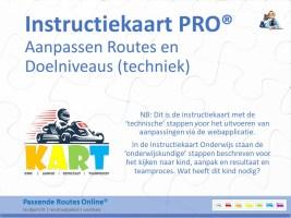 Instructiekaart Aanpassen routes en doelniveaus (techniek)