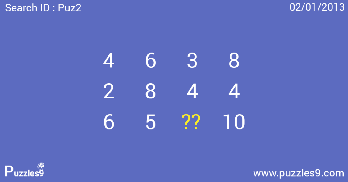 Can you replace the question mark? : Missing Number Puzzles - PUZ2