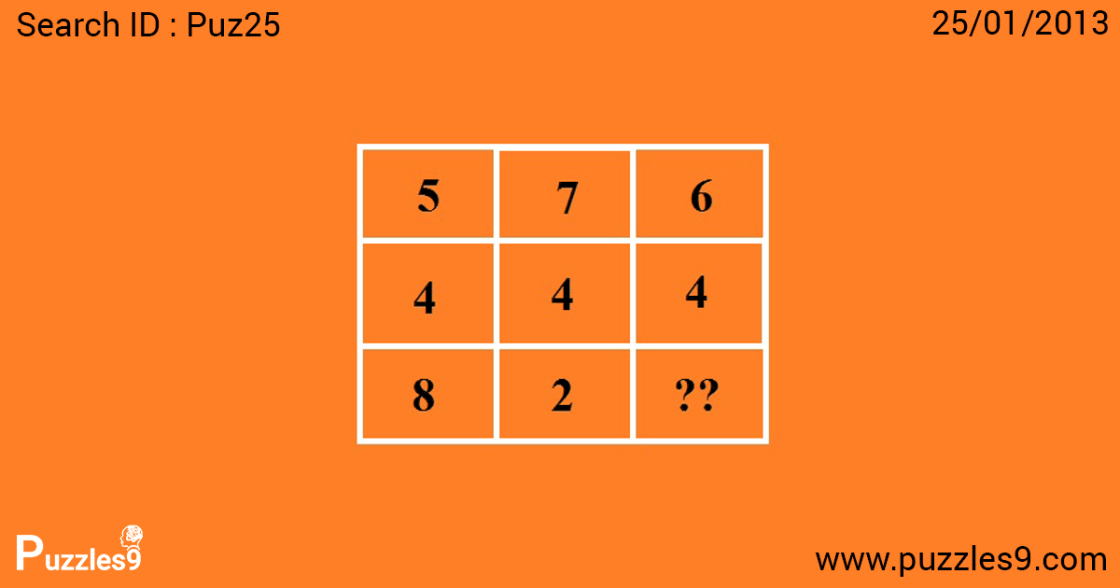 missing number puzzles with answers | puz25