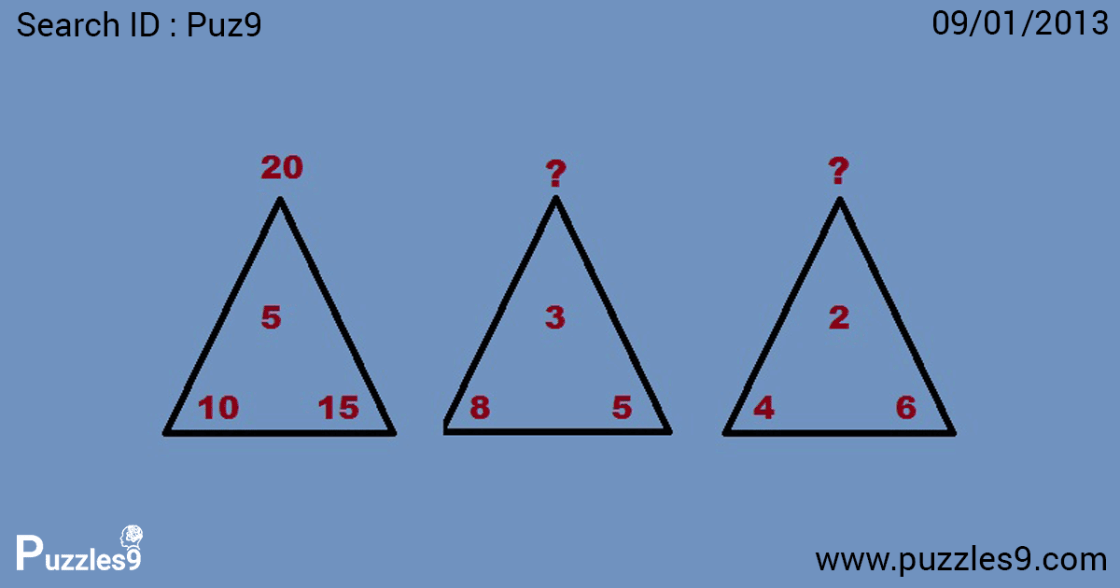 Can you find the missing numbers: Number sequence puzzles | puz9