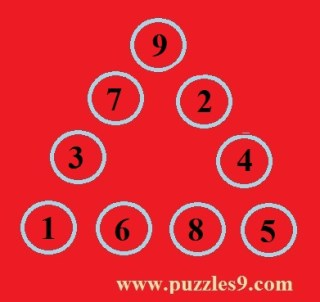 Answer of fill in circles maths logic puzzles in puzzles9