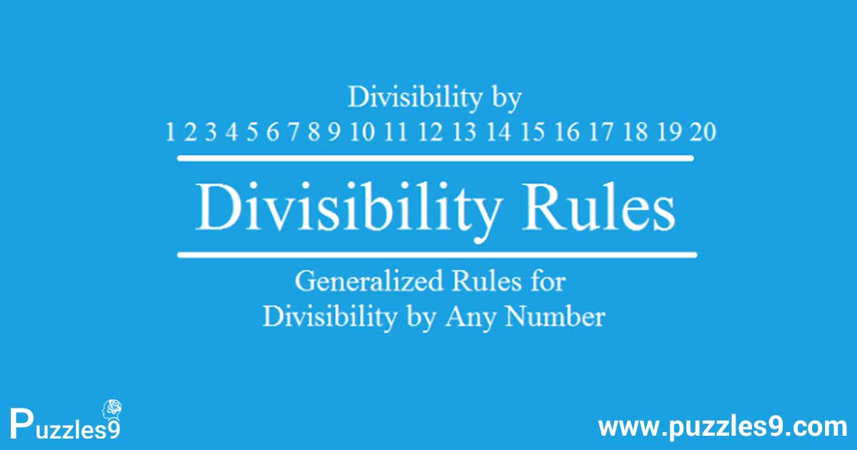 Math Division Rules For Numbers 1 20 Simple Tricks To Remember