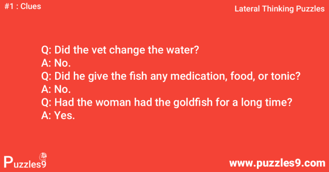 #1 Clues: woman and fish lateral thinking puzzle with answer