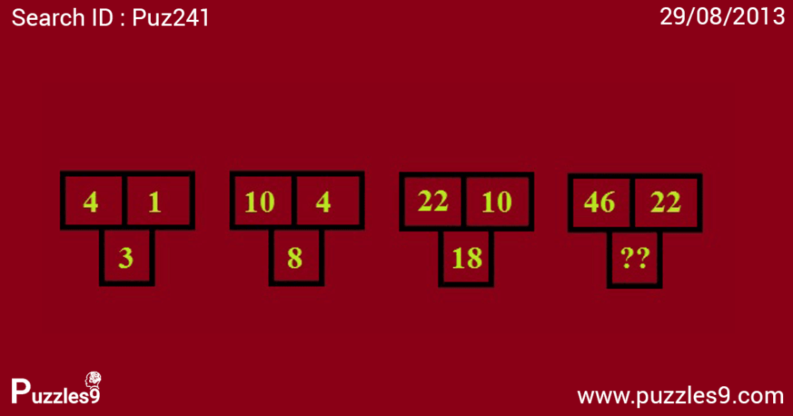 FIND THE missing NUMBER IN NUMBER SEQUENCE PUZZLE : puzzles9 | puz241