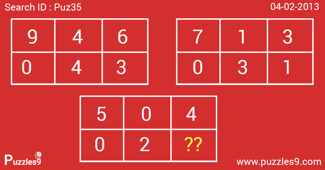 number sequence puzzle with answer | puz35- 04 feb 2013