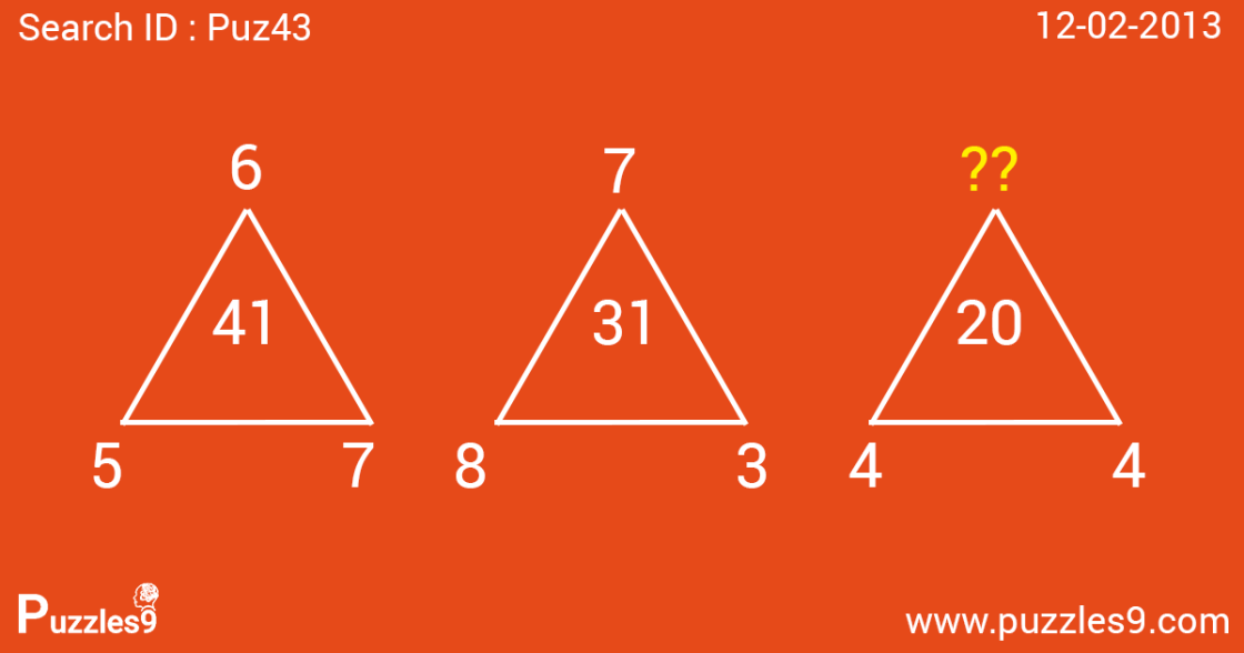 missing number puzzle with answer | Puz43 - 12/02/2013