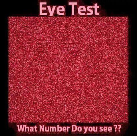 Eye Test which number do you see