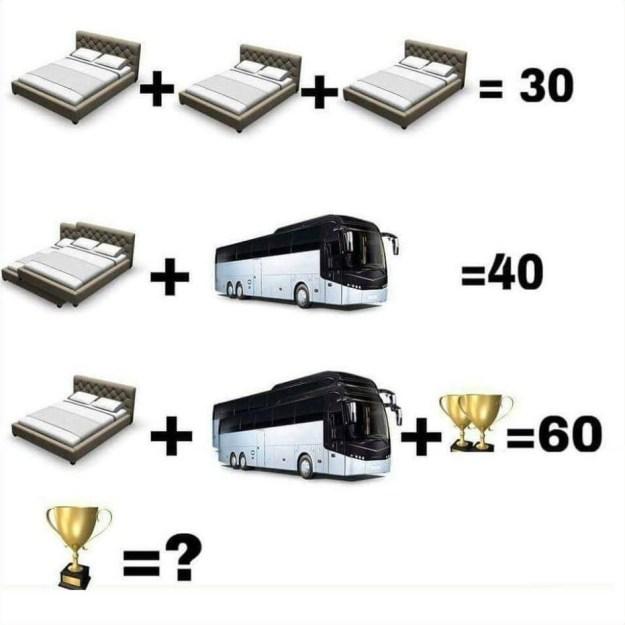 Bed Bus Trophy Puzzle