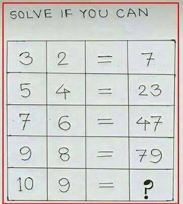 Fun math brainteaser