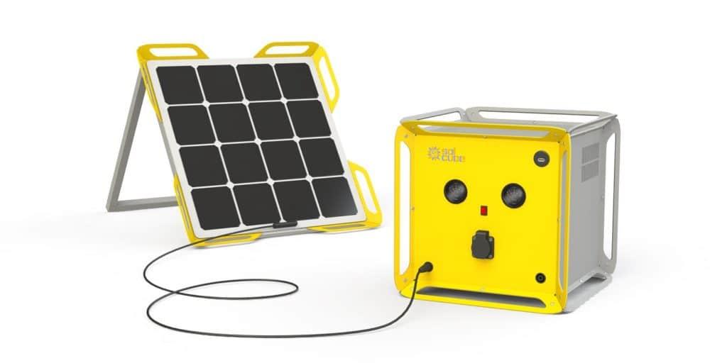 Batteriewürfel Solcube soll Camping Generatoren ersetzen