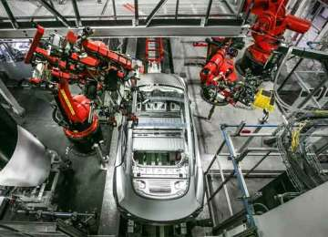A look inside Tesla's principal automobile production facility in California