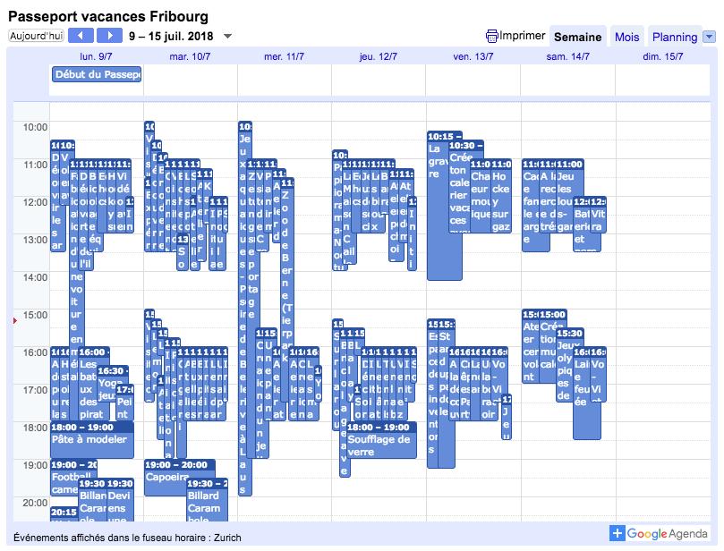Le calendrier des activités est en ligne